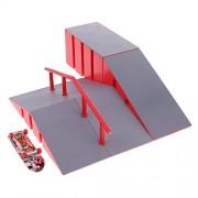 Dovewill Fingerboard Ramp Finger Skate Park Ramps Professional Platform Finger BoardB