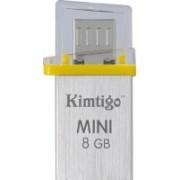 Kimtigo Mini On The Go Y - Made in Taiwan 8 GB OTG Drive(Yellow, Type A to Micro USB)