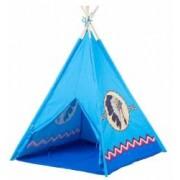 Cort de Joaca pentru Copii tip Casuta Indian Exterior sau Interior Culoare Albastru