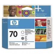 ORIGINAL HP Testina per stampa trasparente/grigio C9410A 70 cartuccia d'inchiostro, gloss enhancer