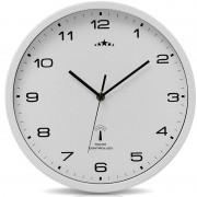 Zegar Ścienny Biały 31cm Automatyczna Zmiana Czasu