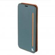 4Smarts Flip case för Samsung Galaxy S8 + G955 G955F ärm case fodral blaugrau orange