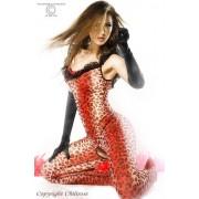 Catsuit Leopardo Vermelho