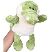 "Flexibuy 12"" Babies Toddlers Velour Cute Crocodile Alligator Full Body Hand Puppet Toys"