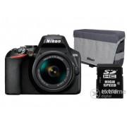 Aparat foto Nikon D3500 (obiectiv 18-55mm VR) + geanta Nikon, card memorie 16GB SD