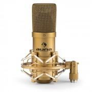 Auna MIC-900G USB micrófono de condensador cardioide estudio dorado