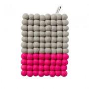 Aveva Design Grytunderlägg Aveva Dip Wool Rektangel 22 cm, Rosa/Grå