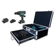 Silex France ® Coffret perceuse sans fil Silex® 2 batteries Li-Ion (2Ah & 5Ah Samsung )
