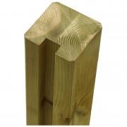 Plus Danmark Begin of eindpaal rabatsysteem vuren Plus Plank verlijmd 9 x 9 cm groen geimpregneerd (267 cm) geschaafd