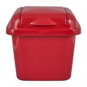 Xenos Mini afvalbakje - rood - 14x16x16 cm