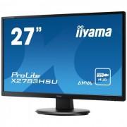 Iiyama ProLite X2783HSU-B1 - Écran LED - 27 (27 visualisable) - 1920 x 1080 Full HD (1080p) - A-MVA - 300 cd/m² - 3000:1 - 4 ms - HDMI, DVI-D, VGA - haut-parleurs - noir