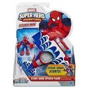 Playskool Heroes Marvel Super Hero Adventures Stunt Wing Spider Plane Vehicle with Spider-Man Figure