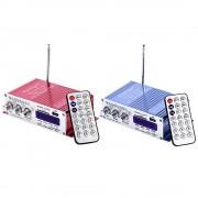 HY-502 USB FM Audio Auto Stereo Versterker Radio MP3 Speaker LED Hifi 2 Kanaals Digitale Display Power Speler voor Auto motorfiets