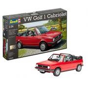 Revell Rv160 1:24 Vw Golf 1 Cabrio Car Hobby Craft Model Kit Pack Set