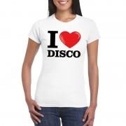 Bellatio Decorations I love disco t-shirt wit dames M - Feestshirts