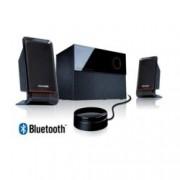 Тонколони Microlab M 200, 2.1, 40W(16W + 2x 12W), Bluetooth 4.0, 3.5мм жак, жично дистанционно, черни