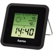 Цифров часовник, термометър, хигрометър, TH-50, Черен, HAMA-113987