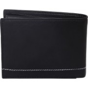 yes brand Men Black Genuine Leather Wallet(5 Card Slots)