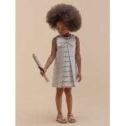 【74%OFF】スウィーティーストライプ リボン シフトドレス ブルーxゴールド 10y ベビー用品 > 衣服~~ベビー服