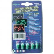 Eufab Led žárovky pro osvětlení přístrojů, 1,2 w, t5, zelené, 5 ks