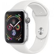 Apple SmartWatch APPLE Watch Series 4 Koperta 40 mm z aluminium w kolorze srebrnym z paskiem sportowym w kolorze białym MU642WB/A