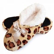 Papuci de Casa Tip Saboti, Animal Print Andina