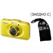 Digital Camera Coolpix S33 Yellow + зимна шапка