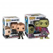 Hulk con guante y Hawkeye Funko Pop Avengers endgame