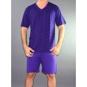 Impetus Мужская пижама короткая Impetus 1567585 фиолетово-темно-синяя