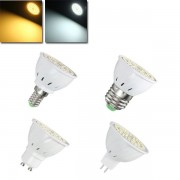 E27 E14 GU10 MR16 4W 54 SMD 2835 LED Warm White Pure White Spotlightting Bulb AC110V / 220V