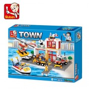 Sluban FIRE Center Building Block Toys for Kids 463 Pieces Multi Color Lego Compatible Educational Gift Toy Set M38-B3700