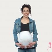Op en Top Zwanger Zwangerschaps Buikband Baby Wit