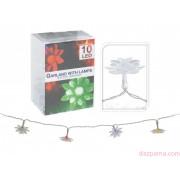 10 LEDes elemes színváltós virágos fényfüzér 120 cm