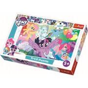Puzzle clasic pentru copii, Trefl 100 piese, Curcubeul Prieteniei My Little Pony
