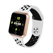 S226 1.3-inch IPS Color Screen Real-time Heart Rate Monitor Health Reminder Bluetooth 4.0 Smart Bracelet - Rose Gold / White / Black