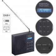 VR-Radio Digitales DAB+/FM-Radio mit Akku, Dual-Wecker, RDS, LCD-Display, Timer