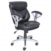 True Innovations Bonded Leather Student Office Chair In Black