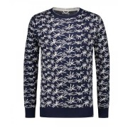 Dstrezzed Sweater Palm Print Navy 2XL