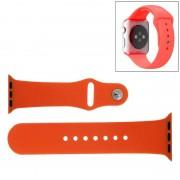 Voor de Apple Watch Sport 38mm High-performance Rubber Sport horlogeband met Pin-en-tuck Closure(Orange)