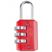 Mountain Warehouse Three Dial Combination Padlock - Red