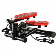 vidaXL Степер Суинг с ластици, черно и червено