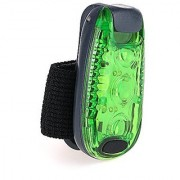 Clip On LED Safety Light High Visibility Running Lights 3 Lighting Modes for Runners Dogs Cycling Walking (Green)