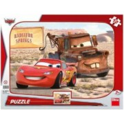 Puzzle - Peripetii cu Lightning McQueen 12 piese