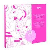 OMY Design & Play Poster à colorier Lily / 100 x 70 cm - OMY Design & Play blanc,rose en papier
