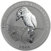 Kookaburra Stříbrná mince 1 AUD Australian Ledňáček 1 Oz 2008