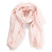 Kendő TORY BURCH - Logo Jacquard Traveler Scarf 45664 Ballet Pink 654