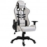vidaXL Геймърски стол, черно, PU