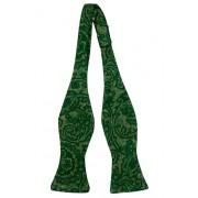 Notch Oknuten Fluga i Ull - Snirkligt mönster i toner av grönt - Notch FRONDOSO Green
