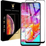 iCall - Samsung Galaxy A70 Screenprotector - Tempered Glass Gehard Glas - Full Screen Cover Volledig Beeld