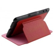 Synthetic Leather Flip Cover with Built-In Stand for Asus Google Nexus 7 2012 - Asus Leather Flip Case (Red/Black)